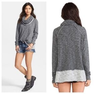 Free People FP Beach One Size Gray Cocoon Top